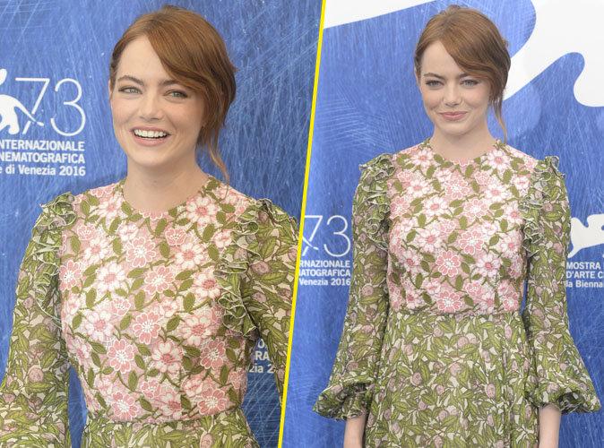 """Photos : Festival de Venise : Emma Stone sourire ravageur pour la présentation du film """"Lalaland"""""""