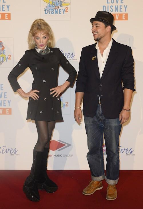Arielle Dombasle et Ben L'Oncle Soul au concert We Love Disney à Paris, le 3 novembre 2014