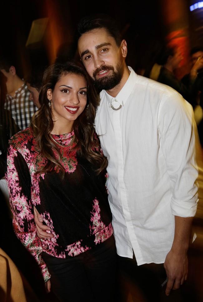 Tal avec son boyfriend Anthony à la soirée Eleven Paris organisée à Paris le 4 mars 2014