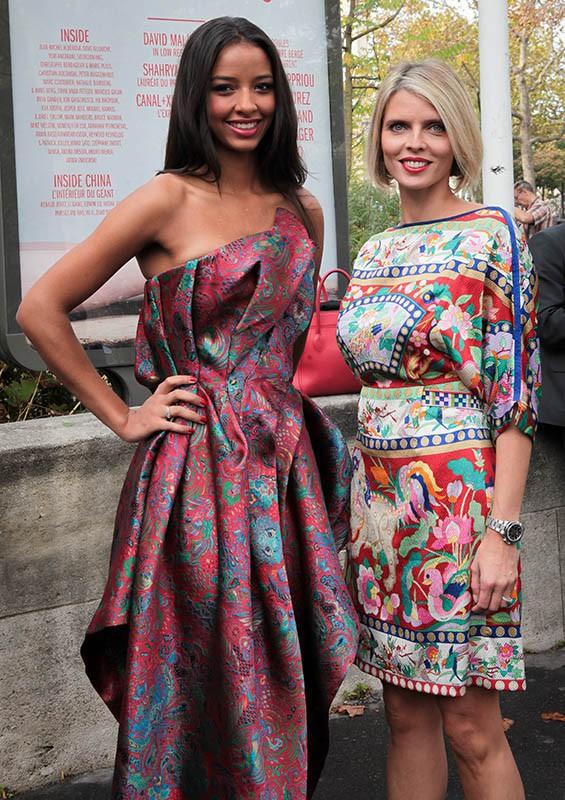 Flora Coquerel : Miss France 2014 brille à la Fashion Week aux côtés de Sylvie Tellier !