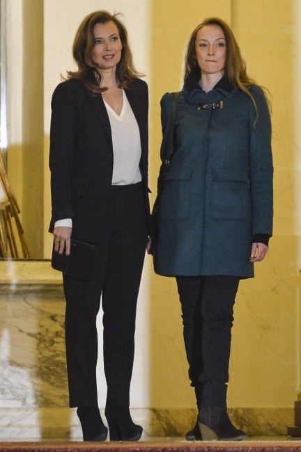 Florence Cassez et Valérie Trierweiler le 25 janvier 2013 à Paris