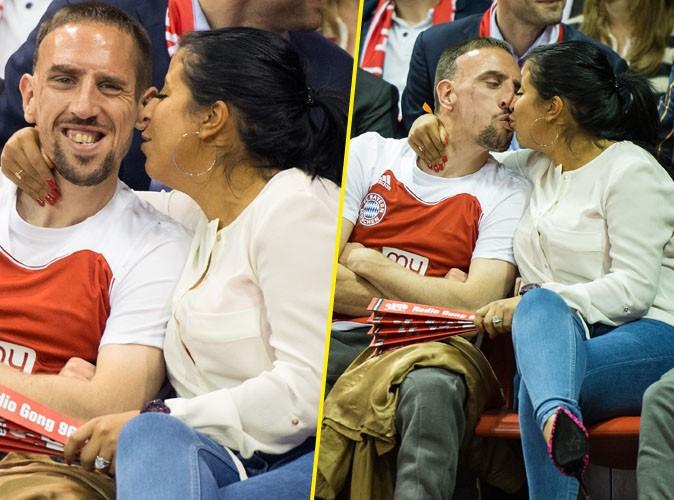 Franck Ribéry et sa femme Wahiba : big love sur le parquet !