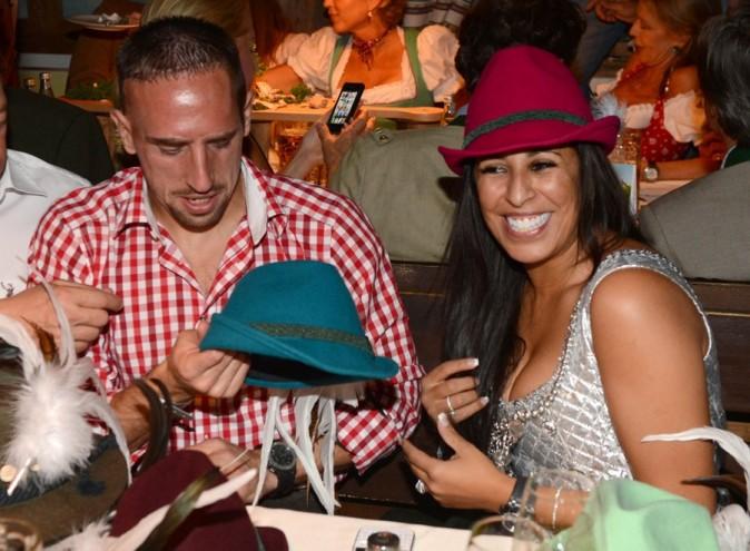 Franck Ribéry et sa femme Wahiba à la fête de la bière à Munich le 23 septembre 2012