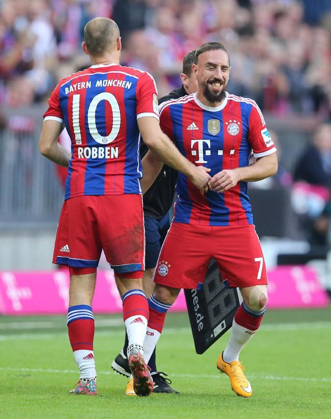 Franck Ribéry pour le match Bayern Munich-Werder Brême joué le 18 octobre 2014