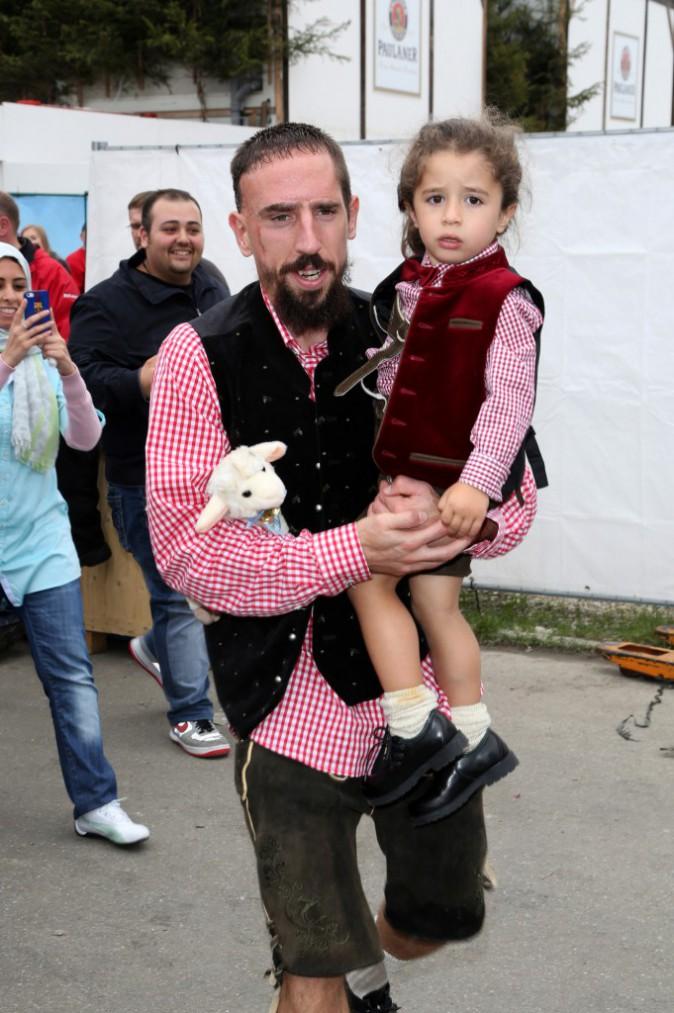 Franck Ribéry en famille le 5 octobre 2014
