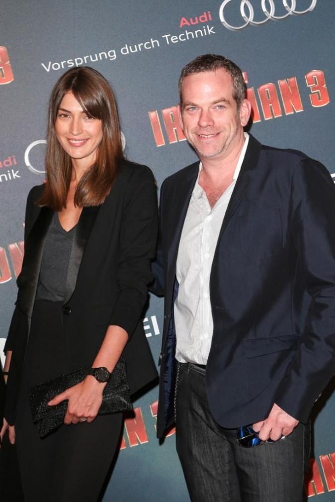 Garou et sa compagne lors de la première d'Iron Man 3, Paris le 14 avril 2013