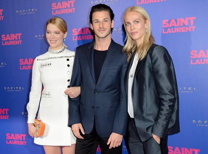 Léa Seydoux, Gaspard Ulliel et Aymeline Valade à Paris le 23 septembre 2014