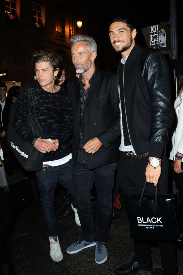 Gautier, Ben et Julien de Secret Story 7 à la soirée Vogue Fashion Night à Paris le 17 septembre 2013