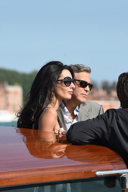 Photos : George Clooney et Amal Alamuddin : arrivée triomphale à Venise pour leur mariage !
