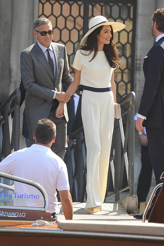 George Clooney et Amal Alamuddin : la fête continue pour les amoureux qui enchaînent avec le mariage civil !