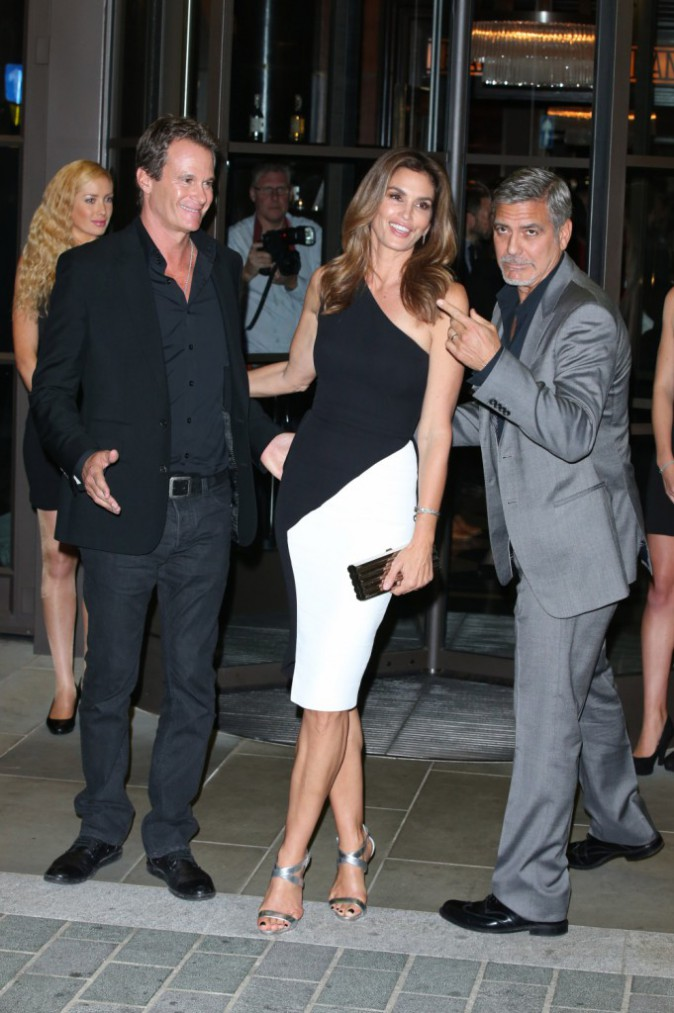 Cindy Crawford et George Clooney le 1er octobre 2015