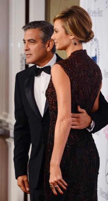 George Clooney et Stacy Keibler le 20 octobre 2012 à Los Angeles