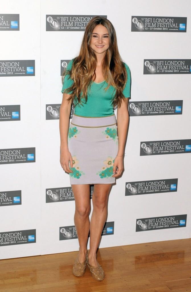 Shailene Woodley lors du photocall du film The Descendants à Londres, le 20 octobre 2011.