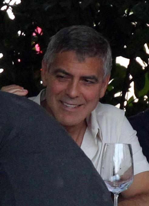 George Clooney au Lac de Côme, en Italie, le 10 juillet 2013