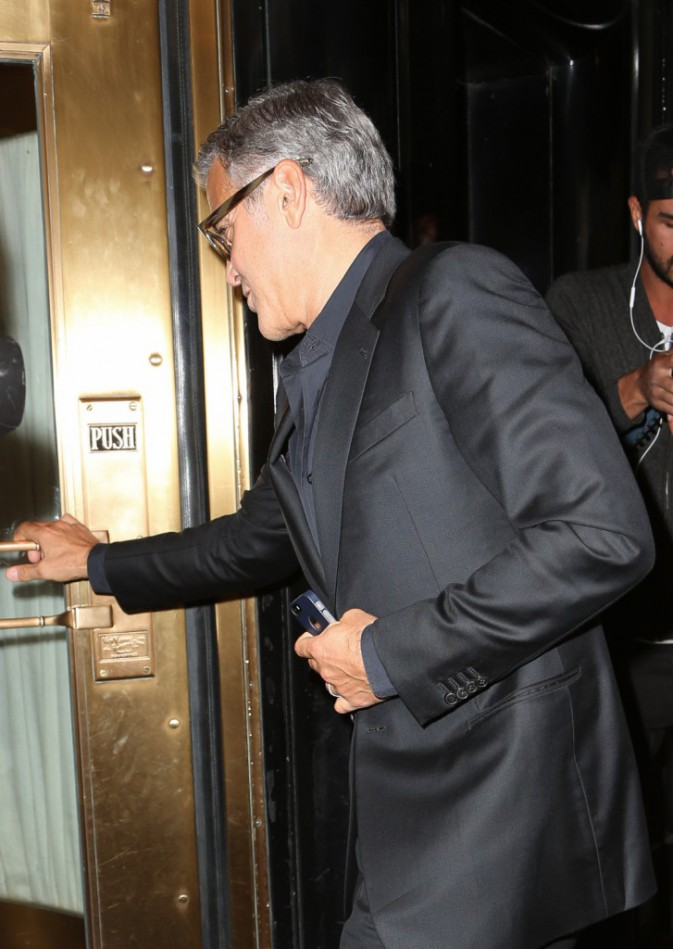 George Clooney à New York le 9 octobre 2014
