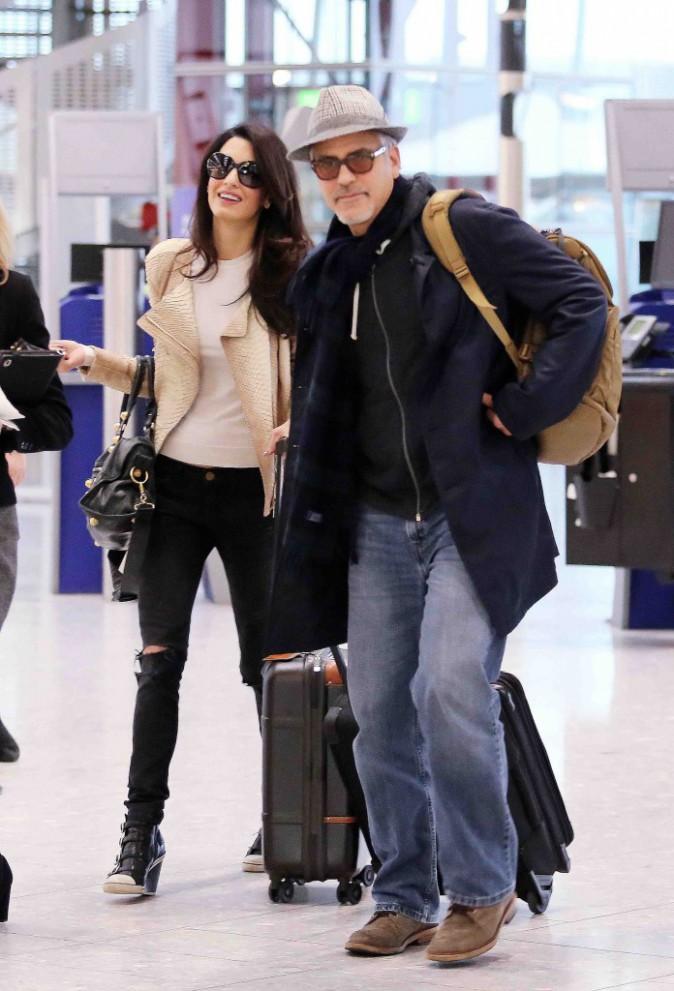 George et Amal Clooney : un couple mari� qui se laisse d�j� aller ?