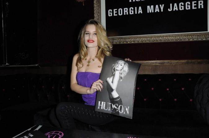 Georgia May Jagger lors de l'aftershow Hudson Jeans au Baron, le 3 mars 2011 à Paris.