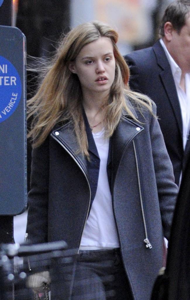 Georgia May Jagger à New York, le 17 décembre 2012.