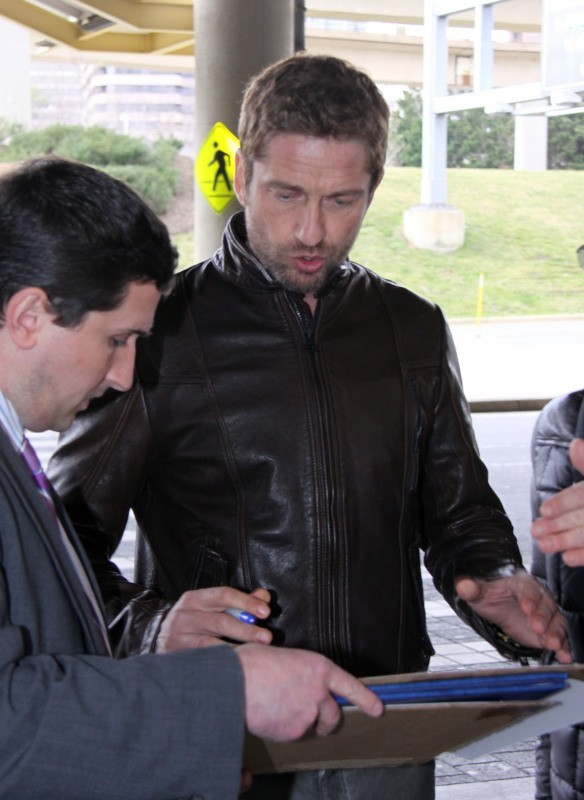 Gerard Butler, Washington, 13 mars 2013.
