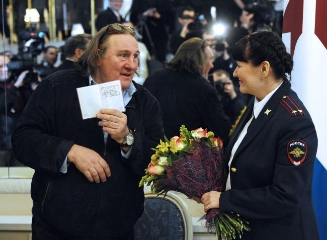 Gerard Depardieu le 23 février 2013 à Saransk