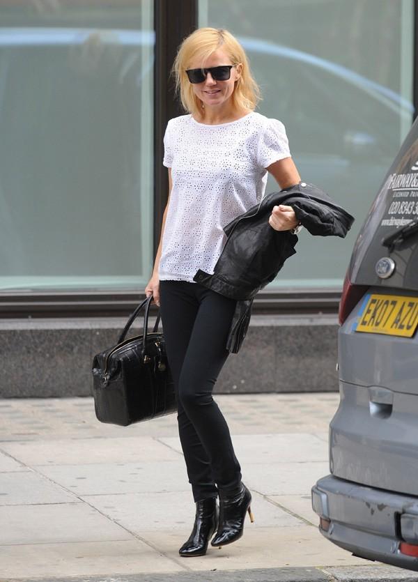 Geri Halliwell dans les rues de Londres le 6 août 2012
