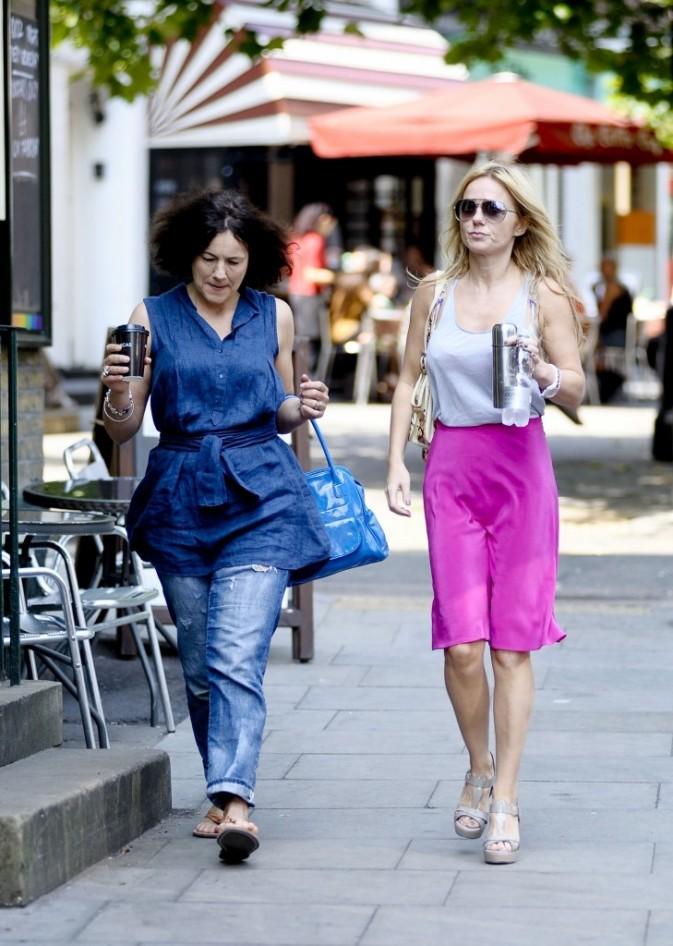 Geri Halliwell et une amie à Londres, le 3 août 2011.