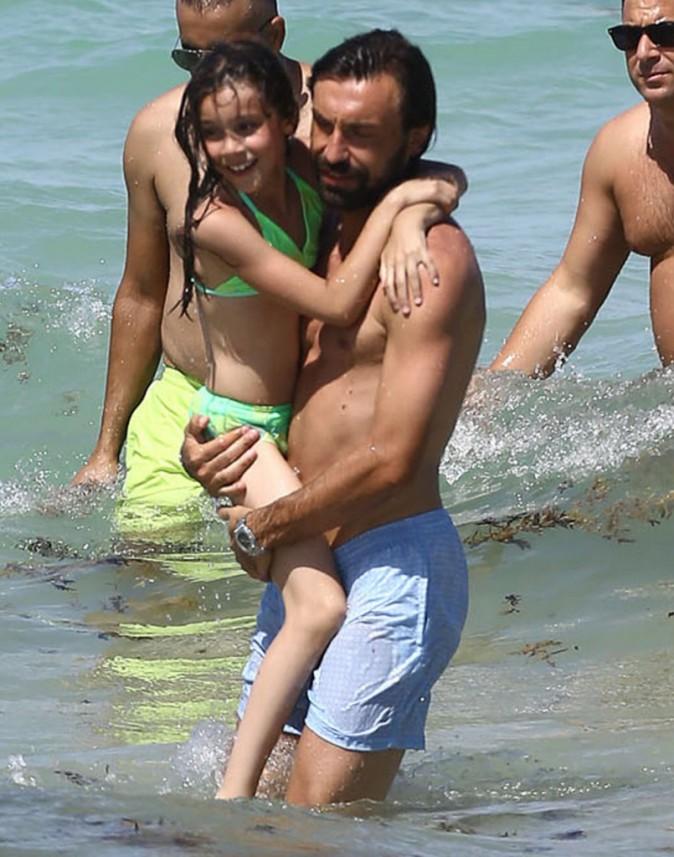 Andrea Pirlo et sa fille