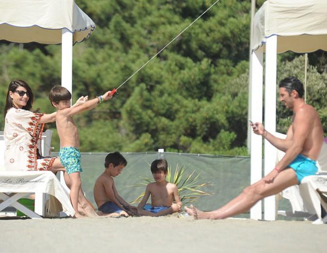 Gianluigi Buffon et sa petite famille