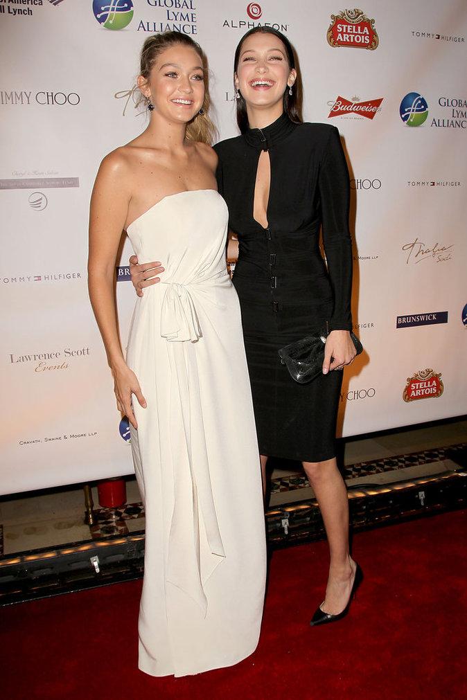 Gigi Hadid et Bella Hadid à New York le 8 octobre 2015