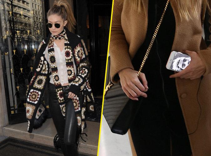 Gigi Hadid débarque à Paris Zayn toujours présent sur son fond d'écran de portable