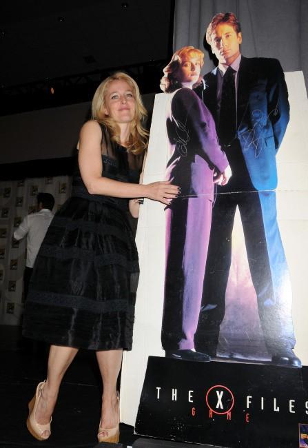 Gillian Anderson lors du Comic-Con à San Diego, le 18 juillet 2013.