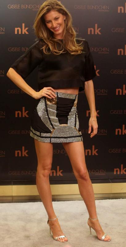 Gisele Bündchen en promo à Sao Paulo, le 11 décembre 2013.