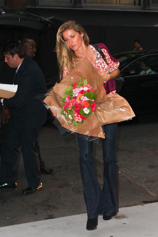 Gisele Bündchen à New-York le 1er octobre 2015