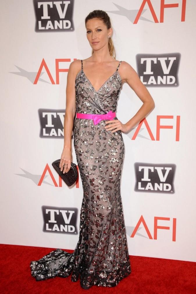 Gisele Bundchen lors de la cérémonie des AFI Life Achievement Award à Los Angeles, le 9 juin 2011.