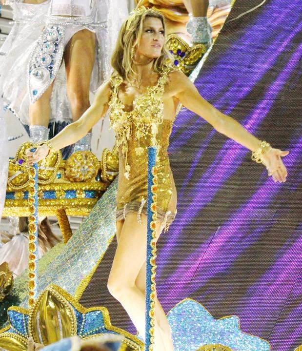 Gisele Bundchen lors du Carnaval de Rio, le 7 mars 2011.