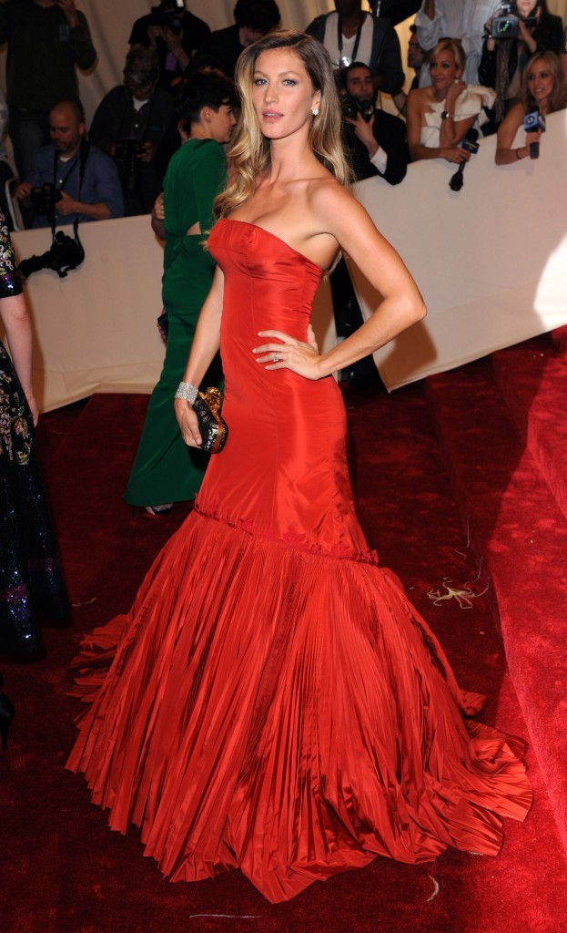 Gisele Bundchen lors du MET Ball Gala à New York, le 2 avril 2011.