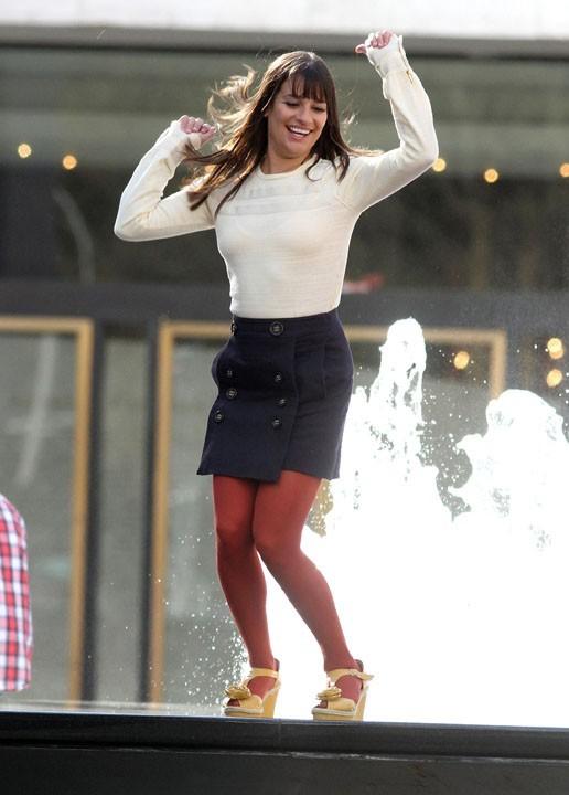 Lea Michele se donne à fond pour l'épisode new yorkais