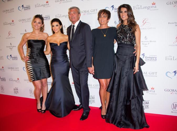 Leslie Lemarchal, Eva Longoria, Pierre Lemarchal, Laurence Lemarchal et Karine Ferri à Paris le 12 mai 2014