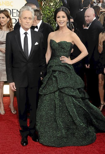 Golden Globes 2011 : le couple de stars Catherine Zeta Jones et Michael Douglas