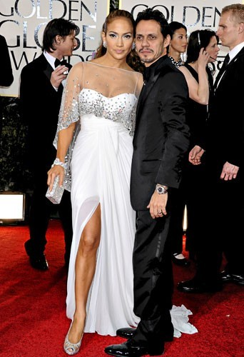 Golden Globes 2011 : le couple de stars Jennifer Lopez et Marc Anthony