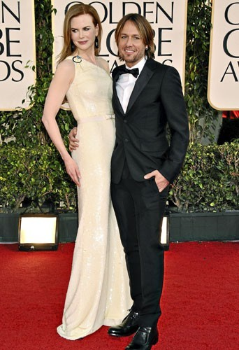 Golden Globes 2011 : le couple de stars Nicole Kidman et Keith Urban