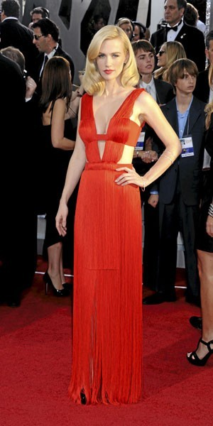 Golden Globes 2011 : le look de January Jones