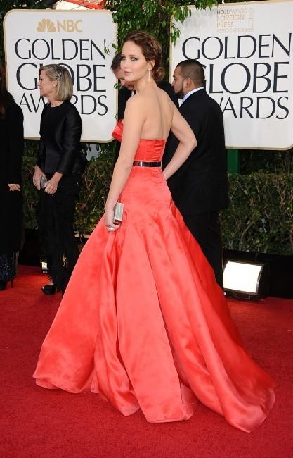 Jennifer Lawrence lors de la 70e cérémonie des Golden Globes à Los Angeles, le 13 janvier 2013.