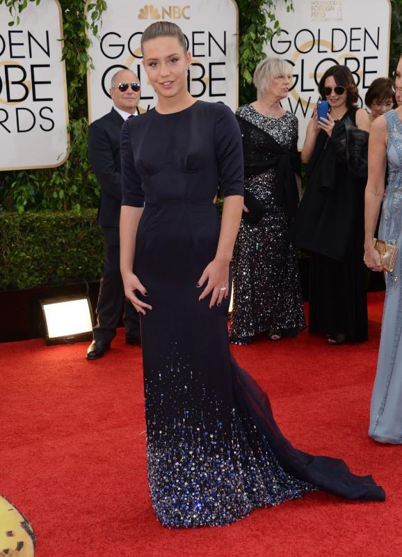 Adèle Exarchopoulos lors de la cérémonie des Golden Globes à Beverly Hills, le 12 janvier 2014.