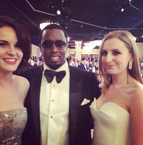 Après U2, P. Diddy se rapproche des actrices de Downton Abbey !
