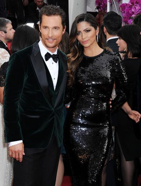 Matthew McConaughey et Camila Alves lors de la cérémonie des Golden Globes à Beverly Hills, le 12 janvier 2014.