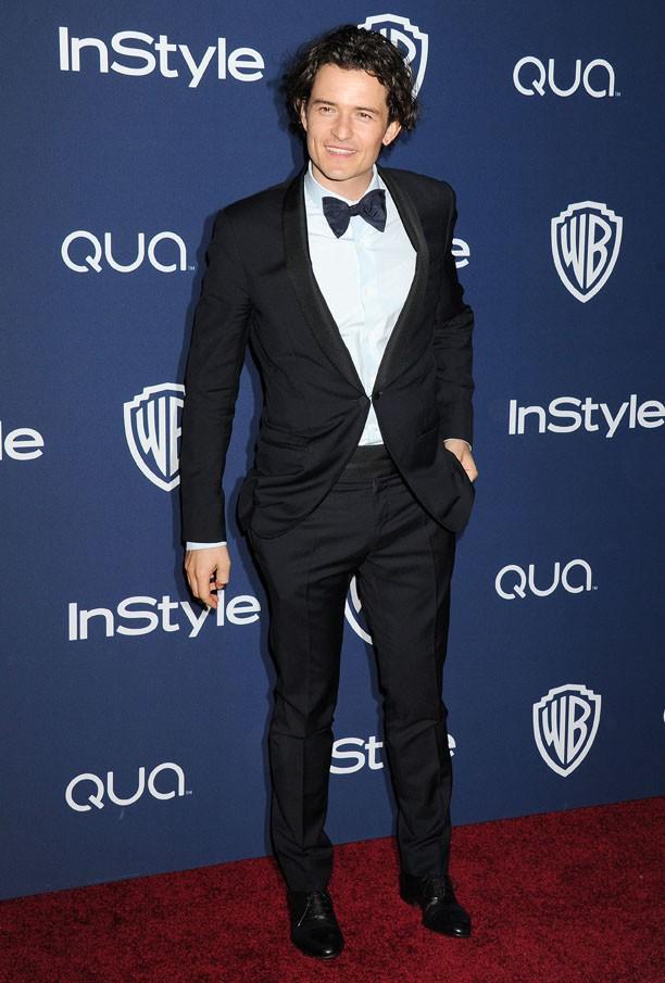 Orlando Bloom à l'after-party organisée par la Warner Bros et In Style à Los Angeles le 12 janvier 2014