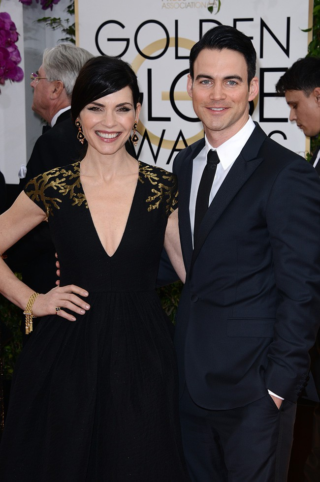 Julianna Margulies et Keith Lieberthal à la cérémonie des Golden Globes 2014