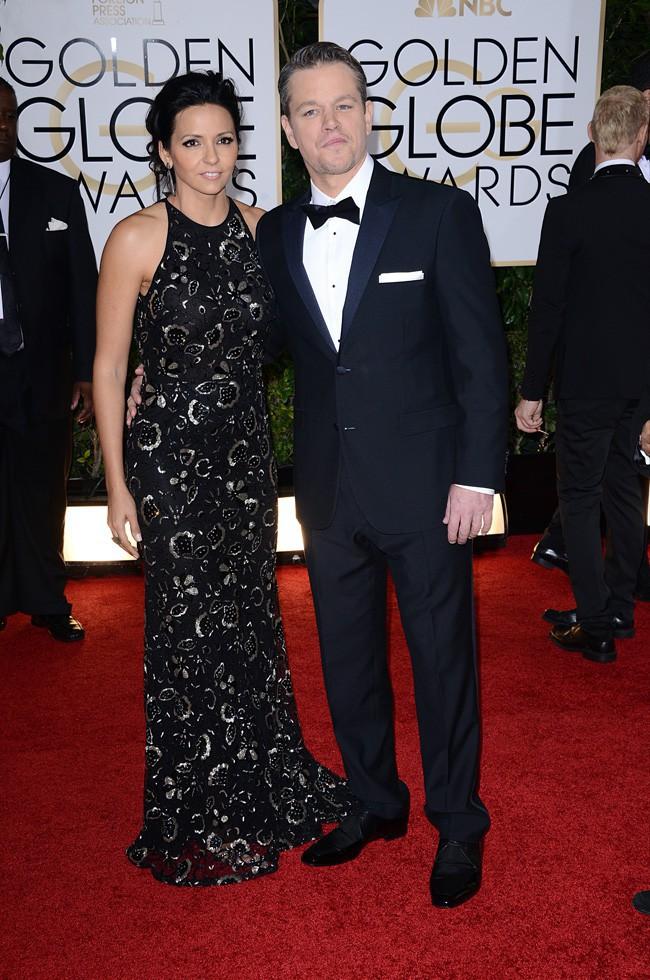 Matt Damon et sa femme Luciana Barroso à la cérémonie des Golden Globes 2014