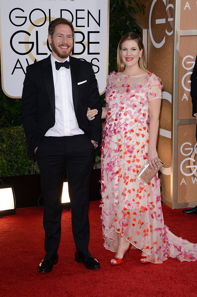 Will Kopelman et Drew Barrymore à la cérémonie des Golden Globes 2014
